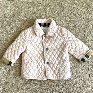 Burberry Baby Quilted Jacket Size 6M